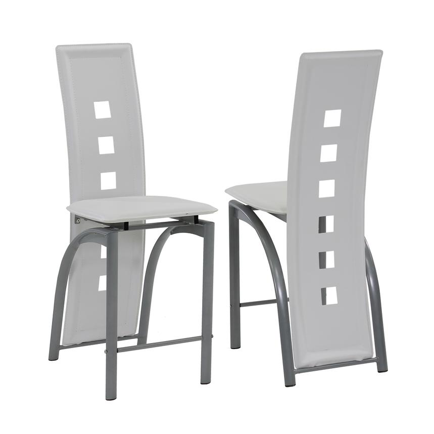 Dominoes White Counter Stool  main image, 1 of 4 images.