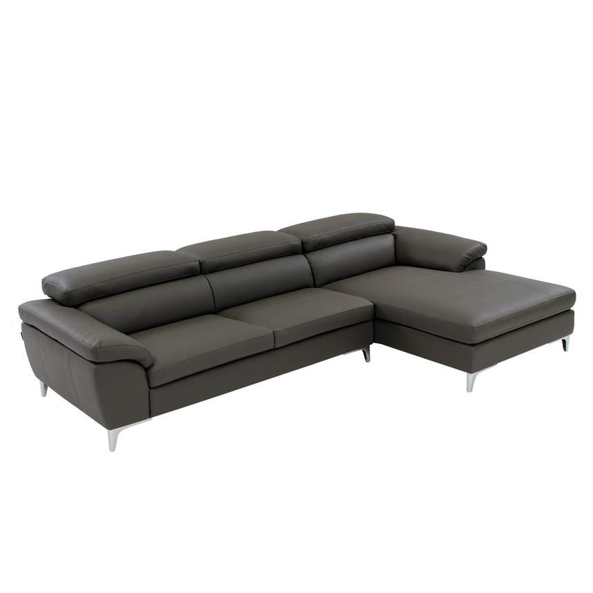 Costa Gray Sofa W Right Chaise El Dorado Furniture