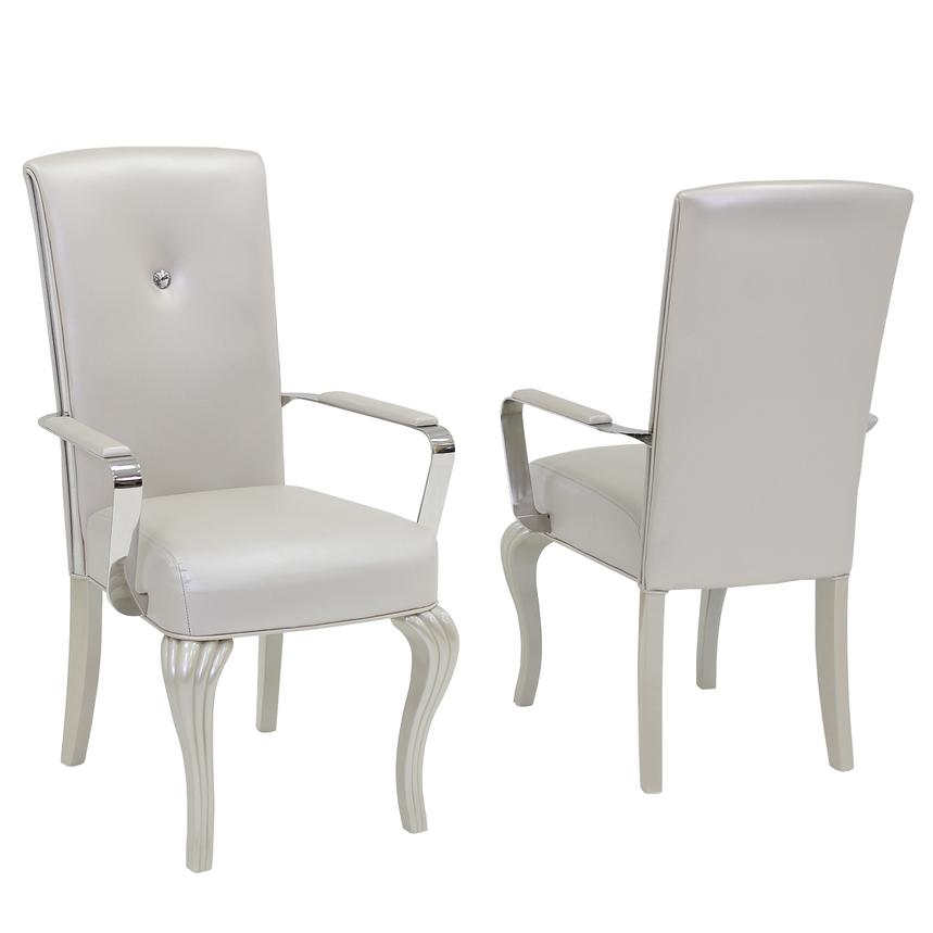 High Quality Hollywood Loft Frost Arm Chair Main Image, 1 Of 6 Images.