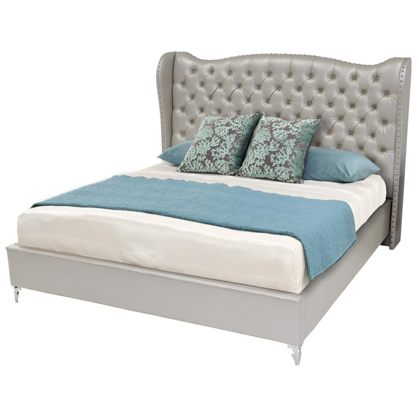 Hollywood Loft Frost Queen Platform Bed  main image, 1 of 8 images.