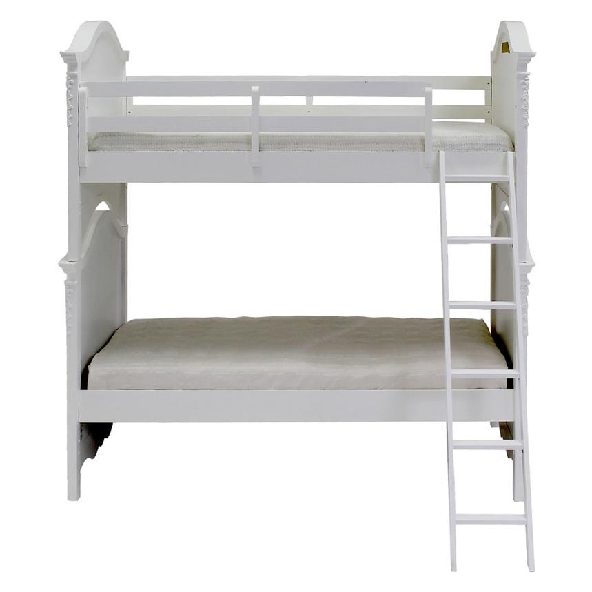 Sweet Pea White Twin Over Twin Bunk Bed  main image, 1 of 6 images.