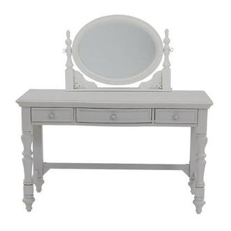 Sweet Pea White Vanity Desk w/Mirror