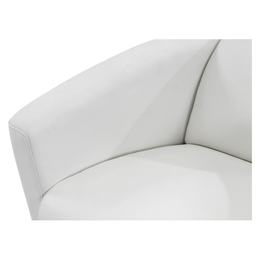 Fellini White Leather Accent Chair  alternate image, 6 of 7 images.