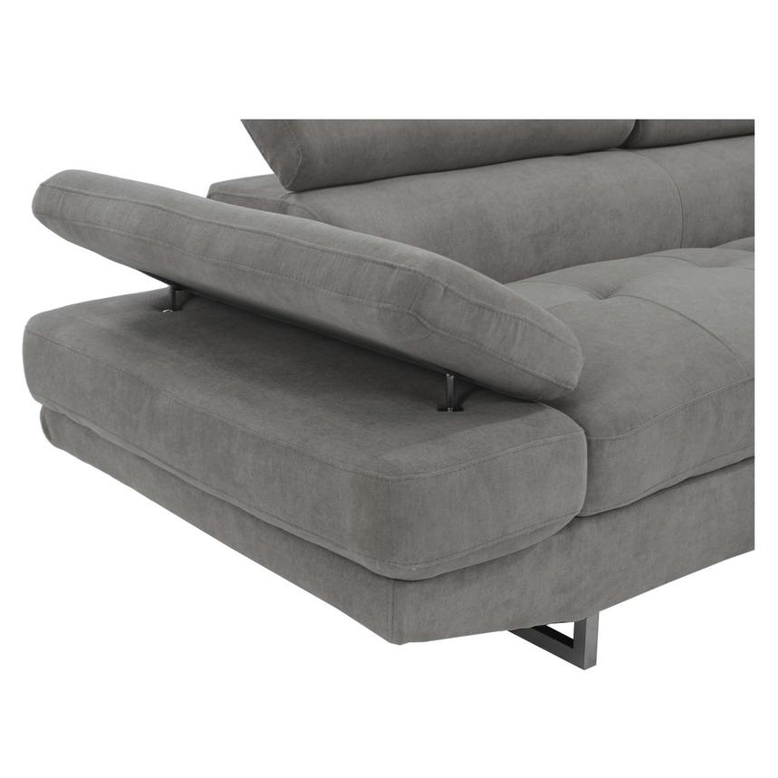 Taheri Gray Sofa w/Right Chaise  alternate image, 5 of 8 images.