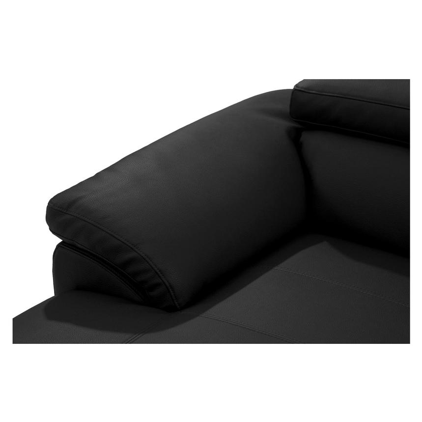 Costa Black Sofa w/Left Chaise  alternate image, 6 of 6 images.