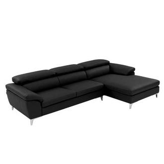 Costa Black Sofa w/Right Chaise
