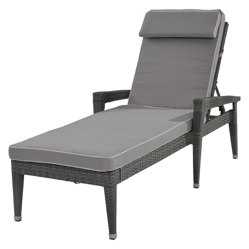 Neilina Gray Chaise Lounge  main image, 1 of 6 images.