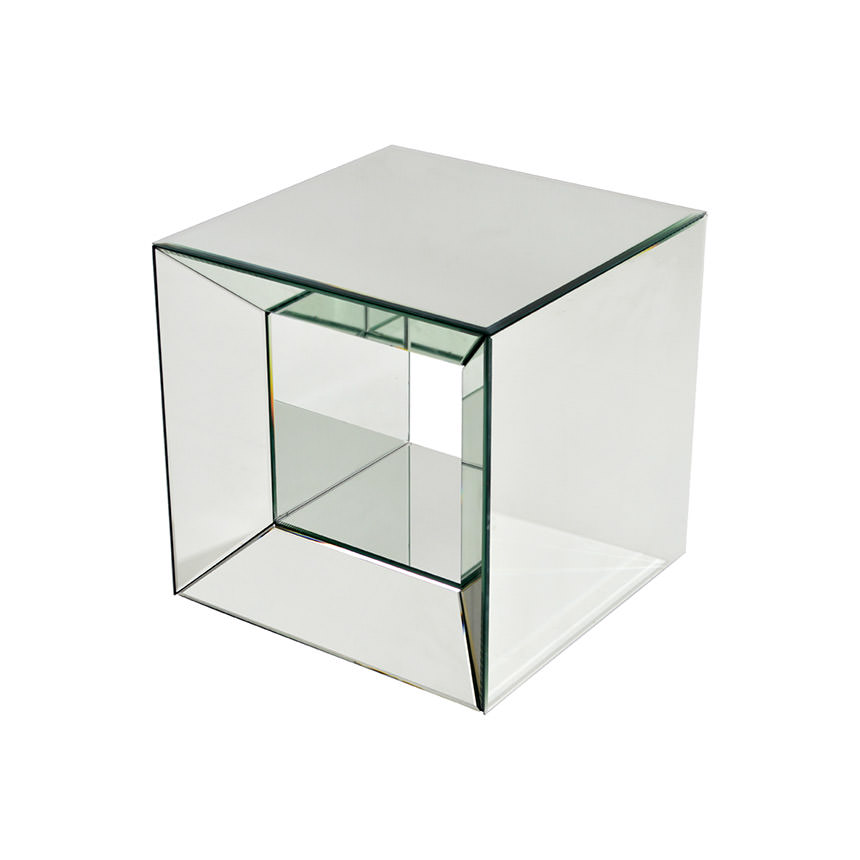drawers table glass side with mirrored handles open venetian three bedside and