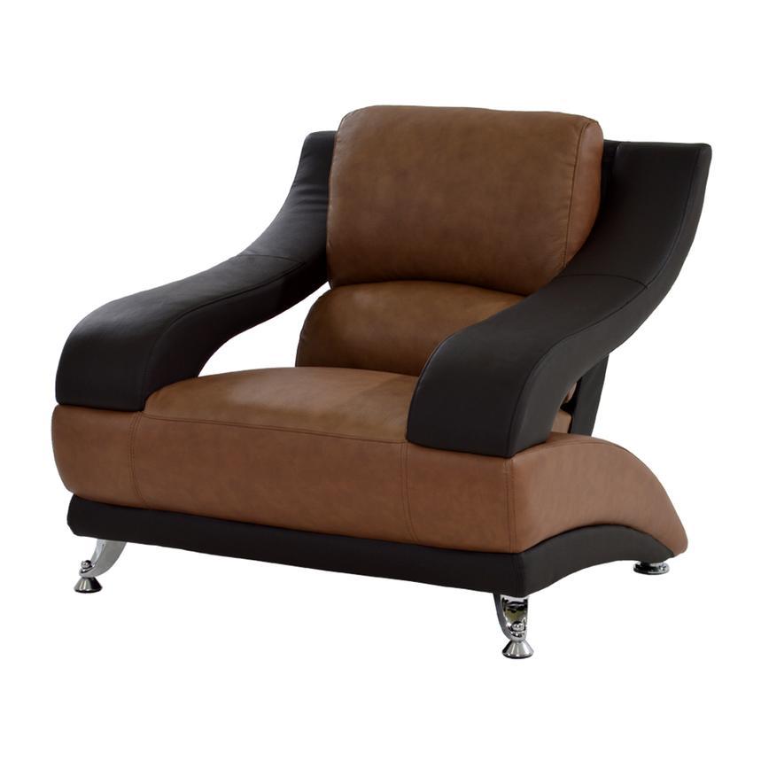 Jedda Camel Leather Chair El Dorado Furniture