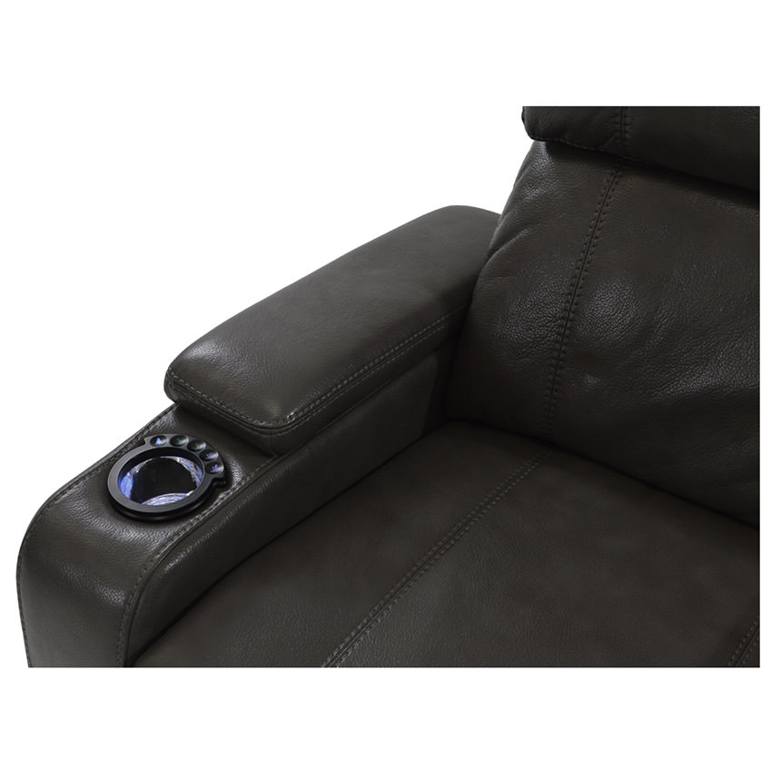 Magnetron Black Power Motion Sofa w/Console  alternate image, 5 of 8 images.