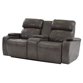 Magnetron Gray Power Motion Sofa w/Console