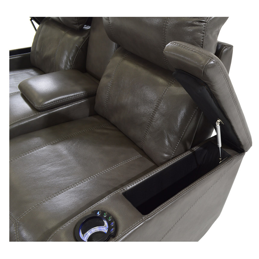 Magnetron Gray Power Motion Sofa w/Console  alternate image, 5 of 8 images.