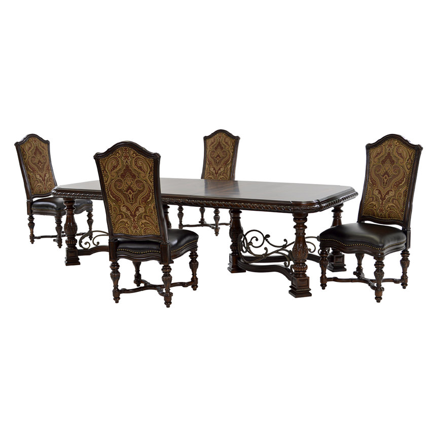 Opulent 5-Piece Formal Dining Set  main image, 1 of 14 images.
