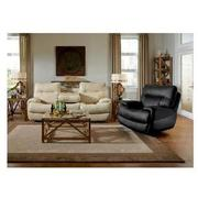Evian Gray Power Motion Leather Sofa w/Console  alternate image, 2 of 9 images.