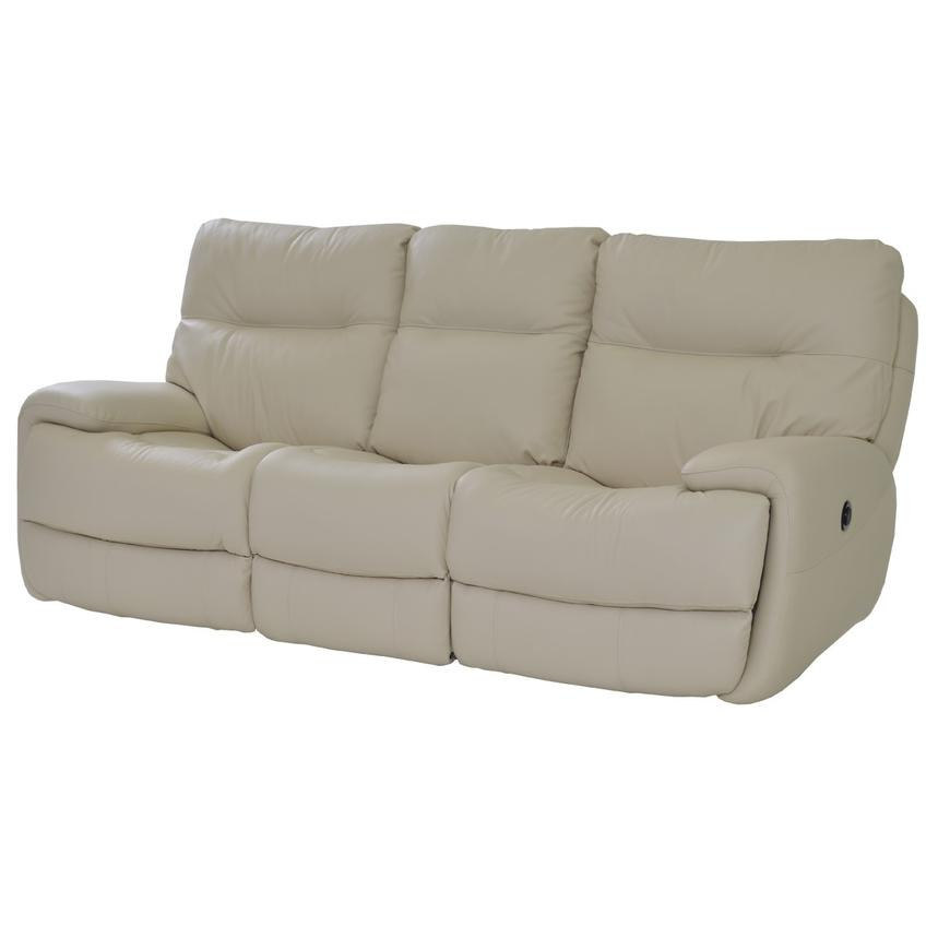 Evian Cream Power Motion Leather Sofa  main image, 1 of 9 images.