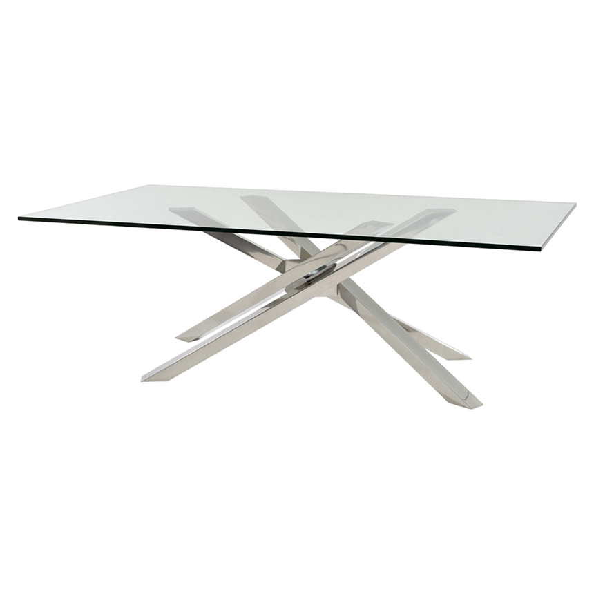 Cyprus Clear Rectangular Dining Table Main Image 1 Of 4 Images