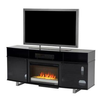 Enterprise Black Faux Fireplace w/Remote Control