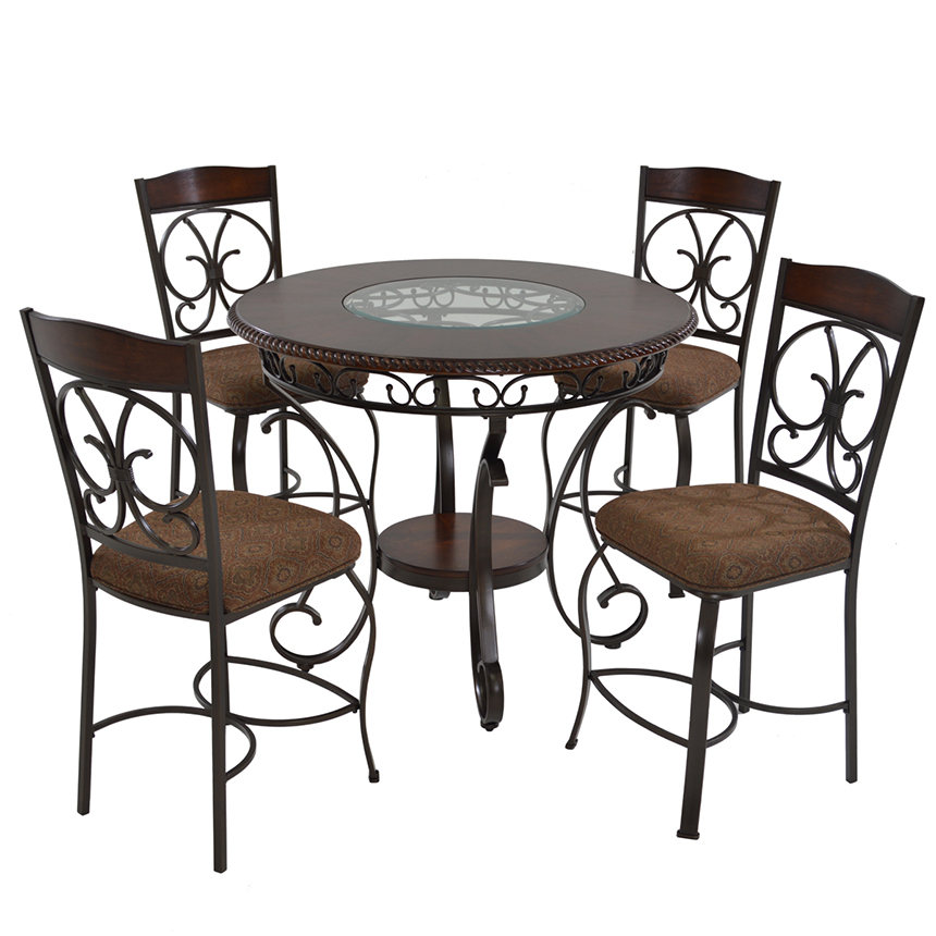 Glambrey 5 Piece High Dining Set Main Image, 1 Of 10 Images.