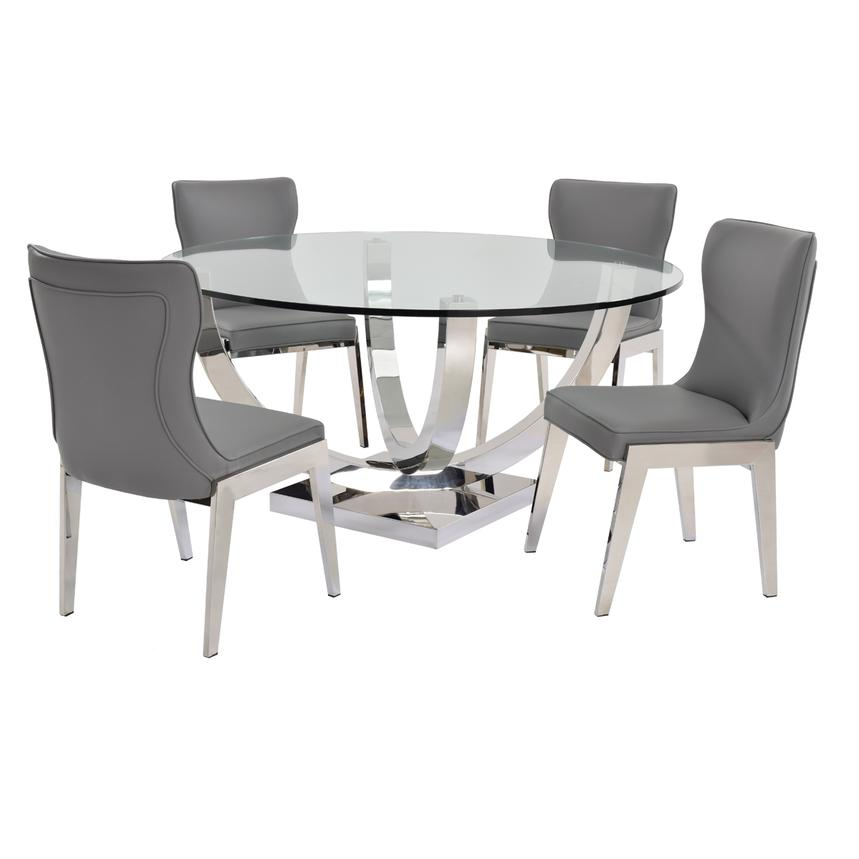 Onyx Gray 5-Piece Formal Dining Set  main image, 1 of 9 images.