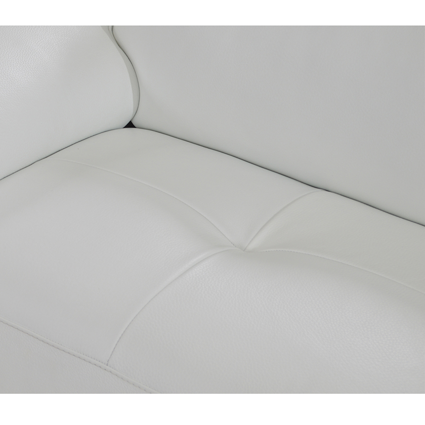 Kennedy White Leather Sofa w/Left Chaise  alternate image, 6 of 8 images.