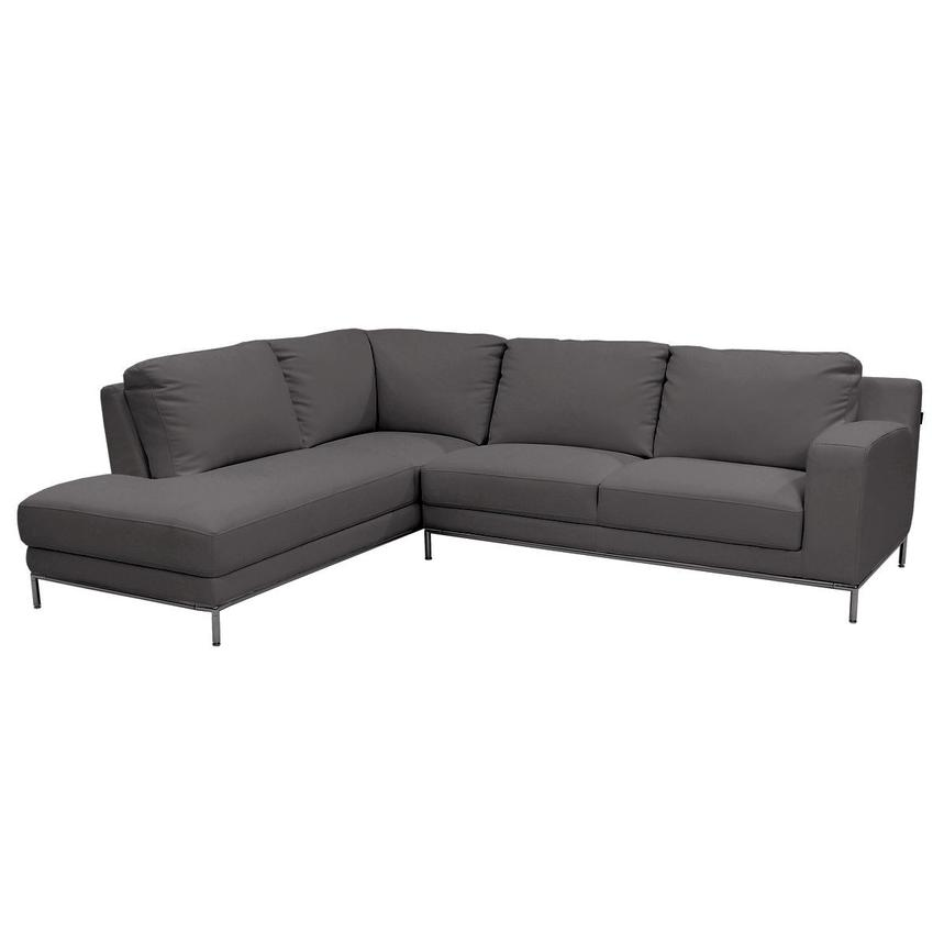 Cantrall Dark Gray Sofa w/Left Chaise  main image, 1 of 6 images.