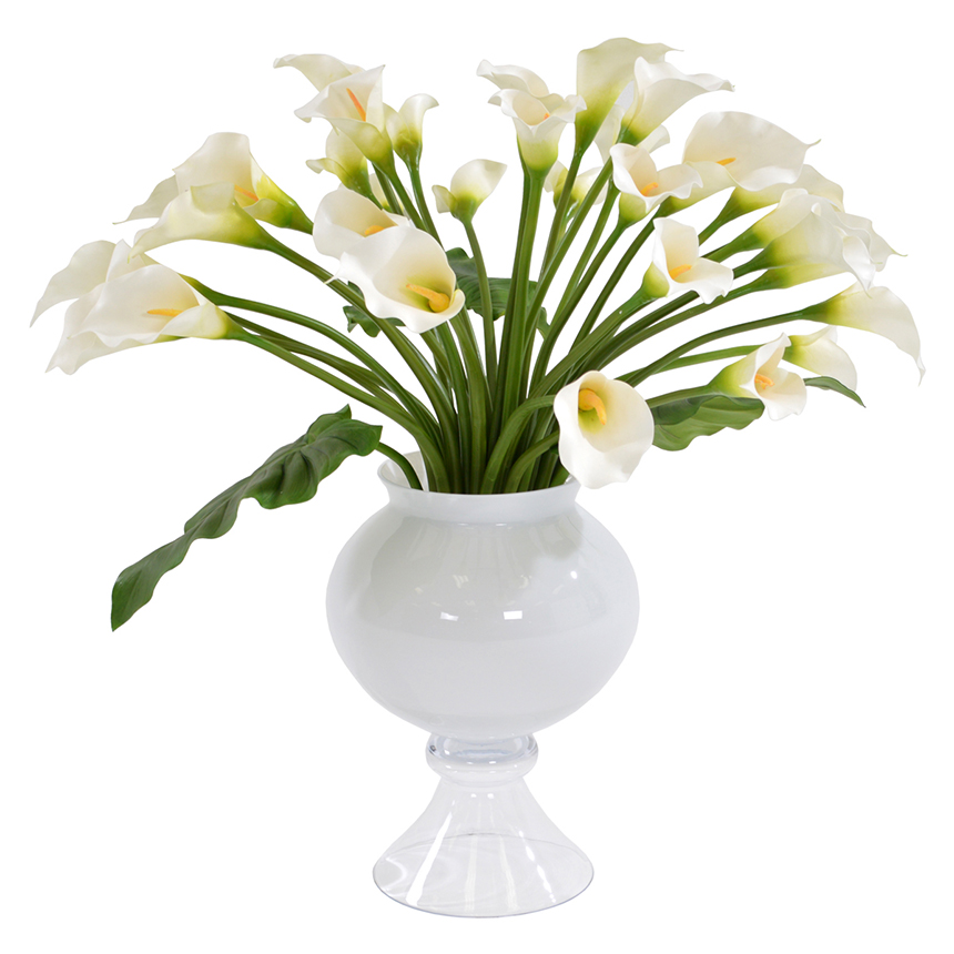 Bouquet of White Lilies Flower Arrangement | El Dorado Furniture