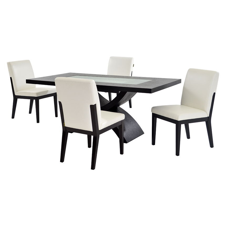 Zephyranth/Suria White 5-Piece Casual Dining Set  main image, 1 of 9 images.