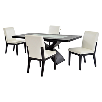 Zephyranth/Suria White 5-Piece Casual Dining Set