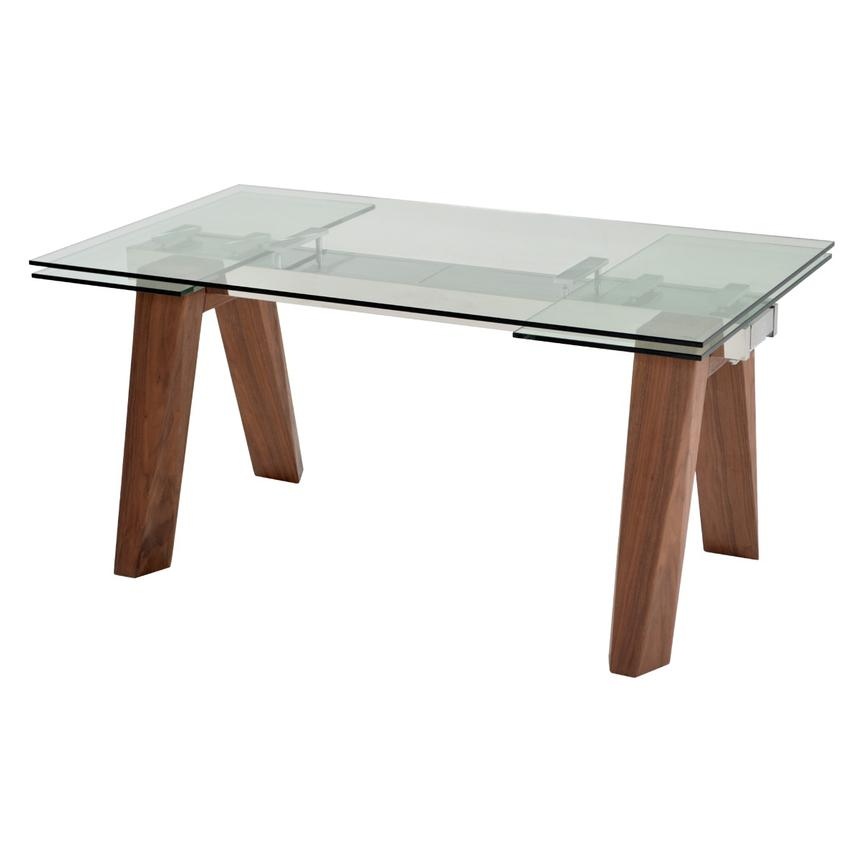 Valencia Brown Extendable Dining Table  main image, 1 of 8 images.