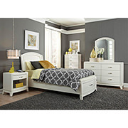Avalon White Full Storage Bed  alternate image, 2 of 9 images.