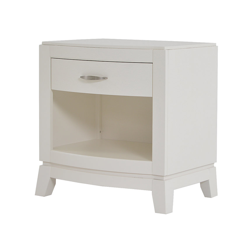 Avalon White Nightstand  main image, 1 of 8 images.