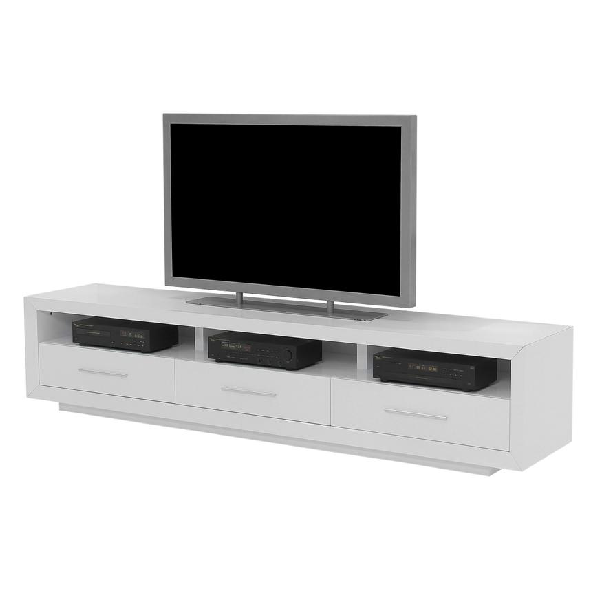 Contour White TV Stand  main image, 1 of 7 images.