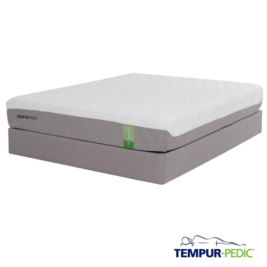 Tempur-Flex Prima Memory Foam Queen Mattress Set w/Regular Foundation by Tempur-Pedic  main image, 1 of 5 images.