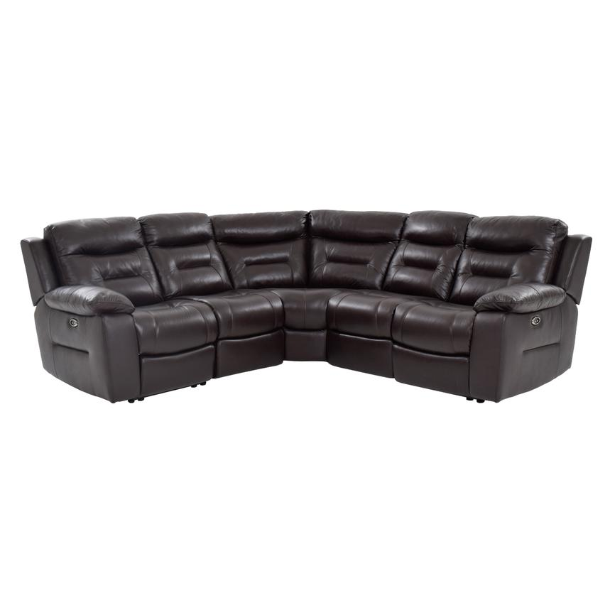 Berkeley Brown Power Motion Leather Sofa w/Right & Left Recliners  main image, 1 of 7 images.