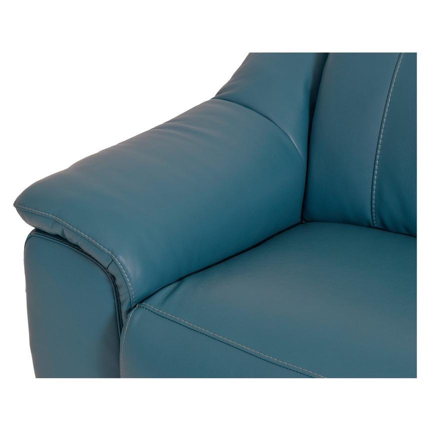 Davis Blue Power Motion Leather Sofa El Dorado Furniture