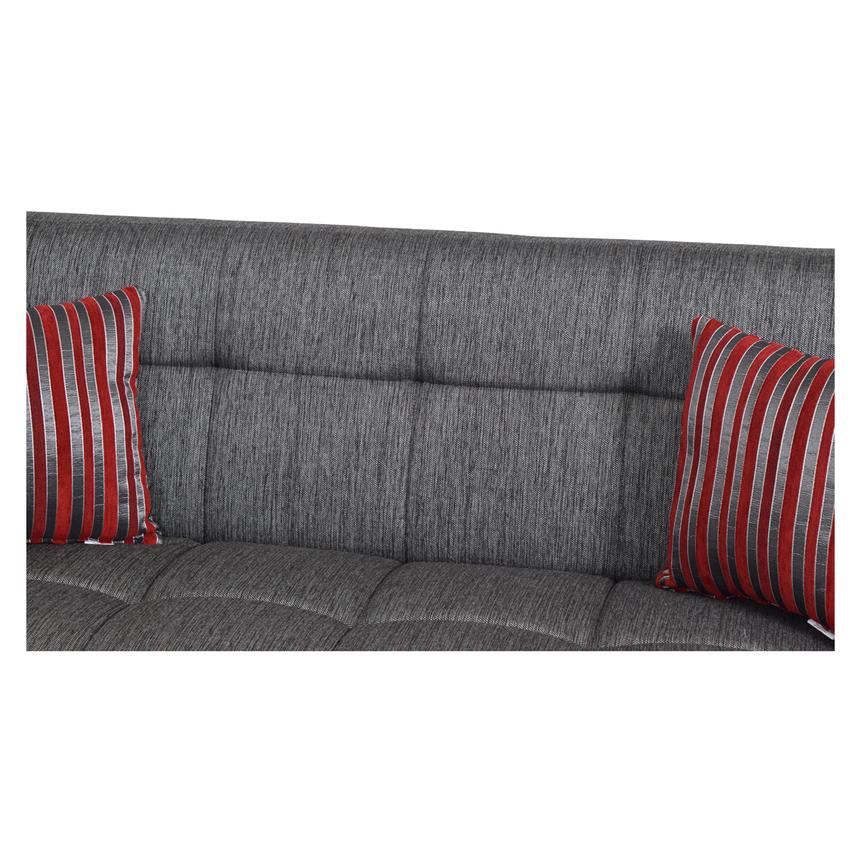 Ekol Gray Futon Sofa w/Storage  alternate image, 6 of 8 images.