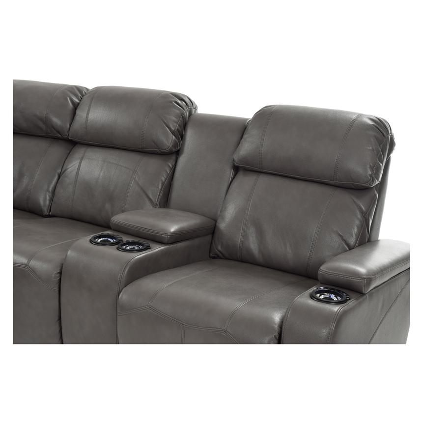 Magnetron Gray Power Motion Sofa W Right Amp Left Recliners