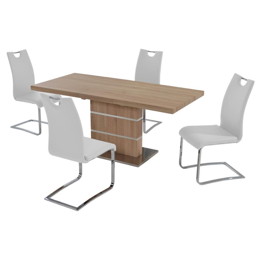 Lorange/Josseline White 5-Piece Casual Dining Set  main image, 1 of 9 images.