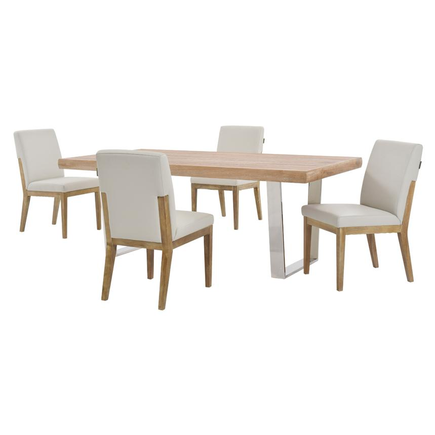 Vela/Suria Light Gray 5-Piece Formal Dining Set  main image, 1 of 11 images.