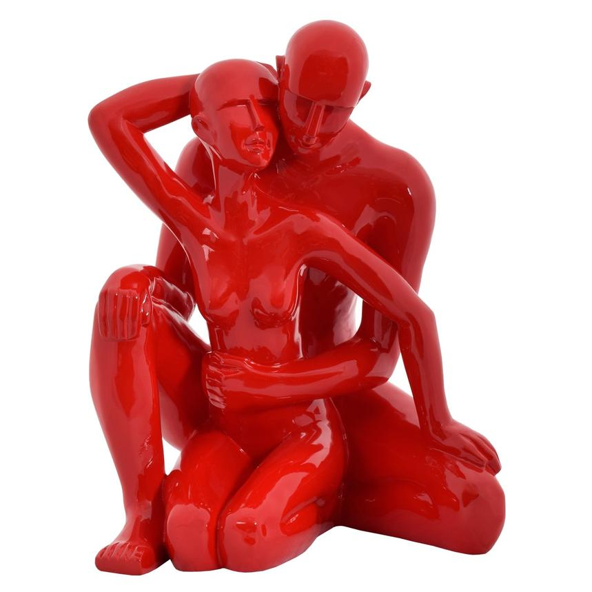 Couple in Love Red Sculpture  main image, 1 of 3 images.