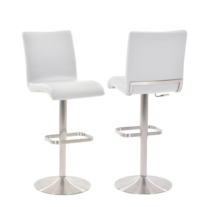 Fogo White Adjustable Stool  main image, 1 of 5 images.