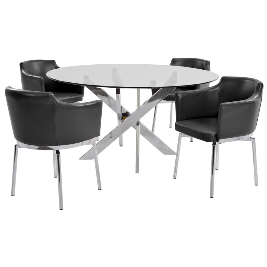 Dusty Black 5-Piece Casual Dining Set  main image, 1 of 9 images.