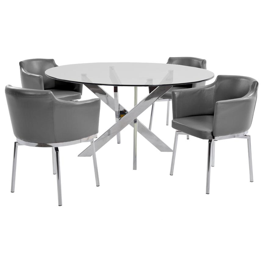 Dusty Gray 5-Piece Casual Dining Set  main image, 1 of 8 images.