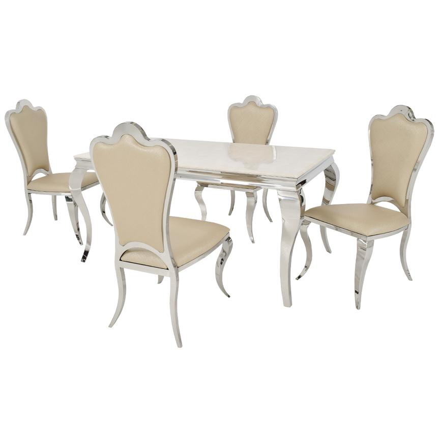 Lizbon/Mariana 5-Piece Formal Dining Set  main image, 1 of 10 images.