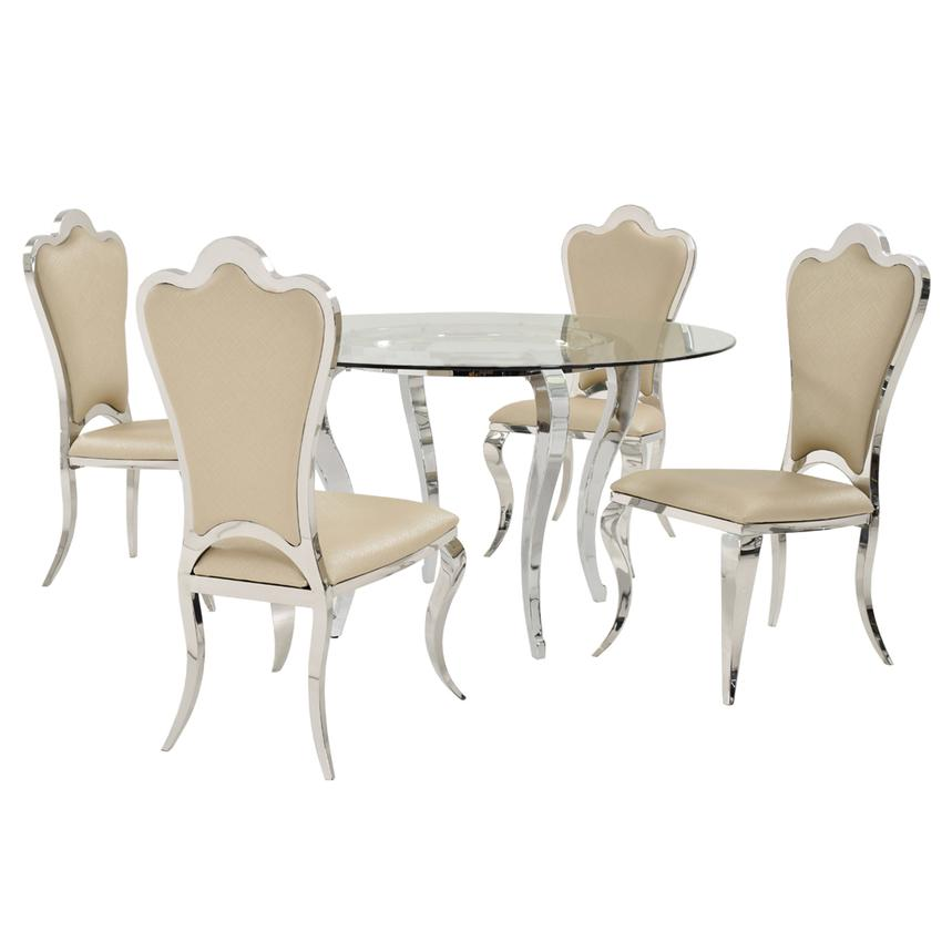 Letticia/Mariana 5-Piece Casual Dining Set  main image, 1 of 6 images.