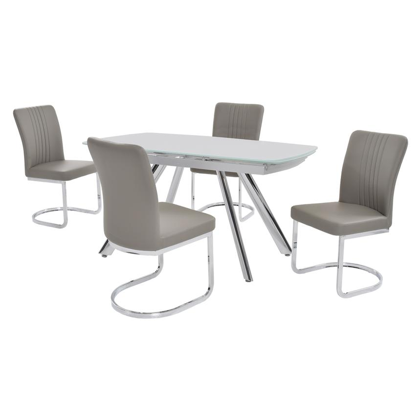 Alina Gray 5-Piece Casual Dining Set  main image, 1 of 9 images.
