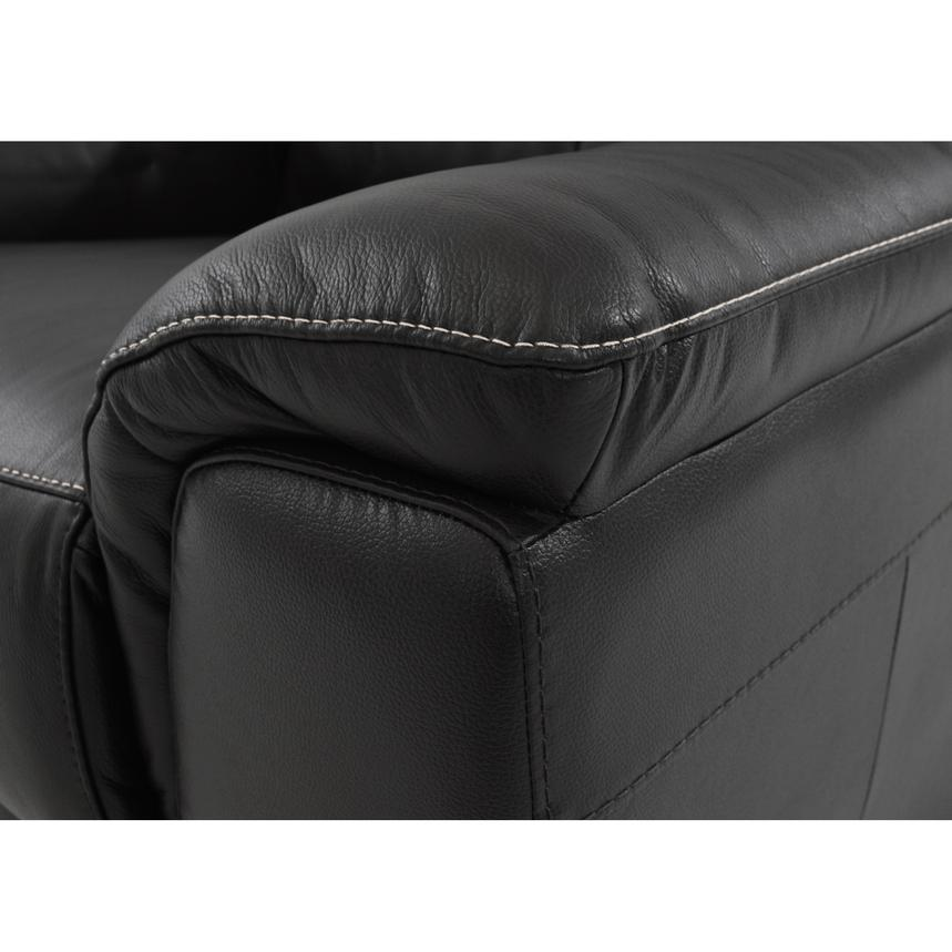 Davis Black Power Motion Leather Sofa w/Right & Left Recliners  alternate image, 5 of 8 images.