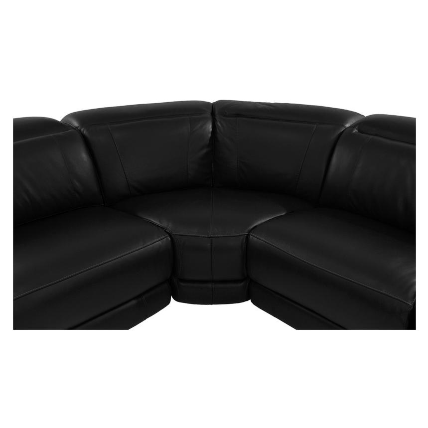 Davis Black Power Motion Leather Sofa w/Right & Left Recliners  alternate image, 6 of 8 images.
