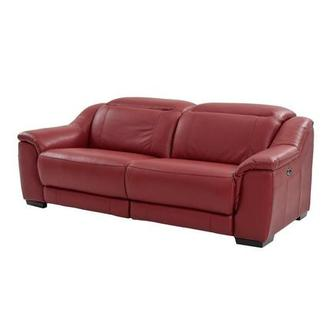Davis Red Power Motion Leather Sofa