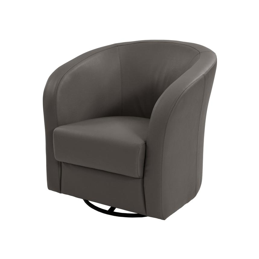 Delia Gray Swivel Accent Chair Main Image, 1 Of 6 Images.